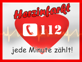 Ein Herzinfarkt ist ein Notfall und jede Minute zählt